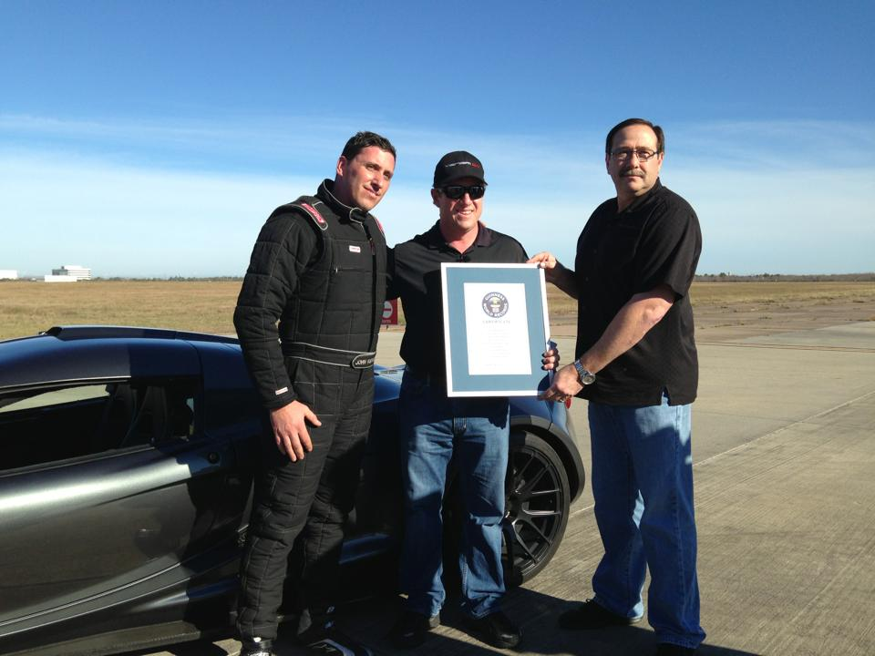 Hennessey Venom GT sets new world record acceleration time to 186 mph