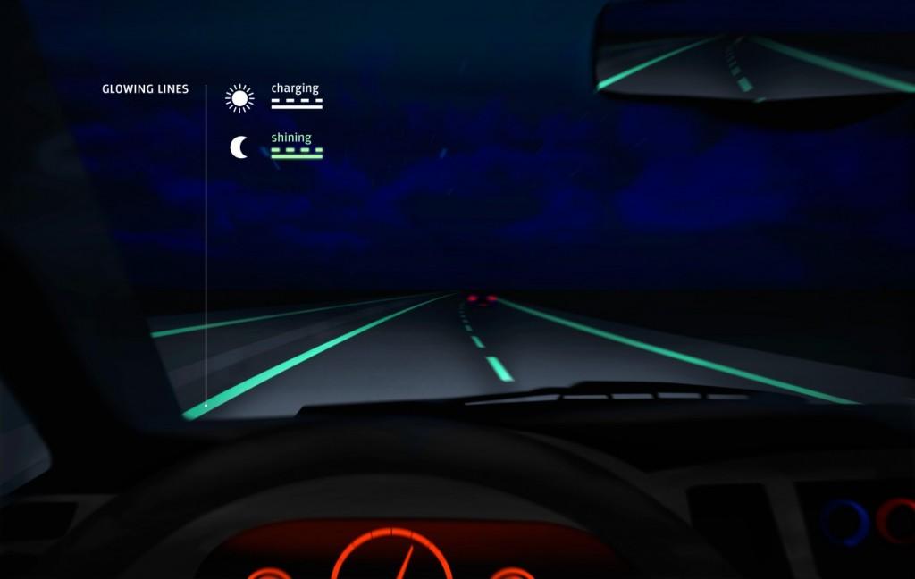 """Holland's """"smart highway"""" (rendering via Studio Roosegaarde)"""