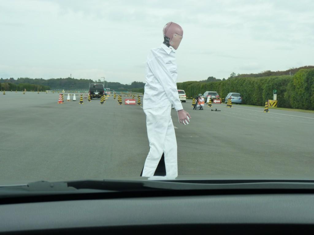 Honda Automatic Emergency Braking (AEB) system demo  -  Japan, 11/2012