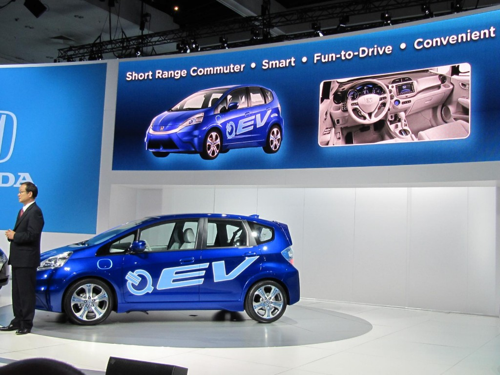Honda honda fit ev range : Honda Enters Small Car EV Game With 2012 Honda Fit