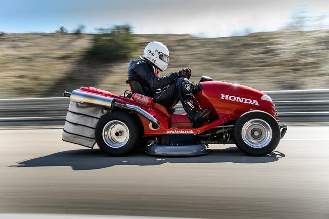 honda's mean mower is officially the world's fastest lawnmower at