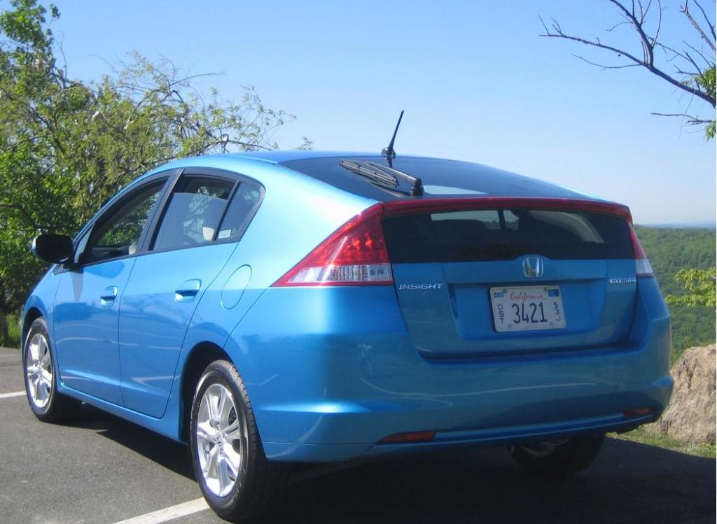 Image 2010 Honda Insight Rear Three Quarter Size 1024