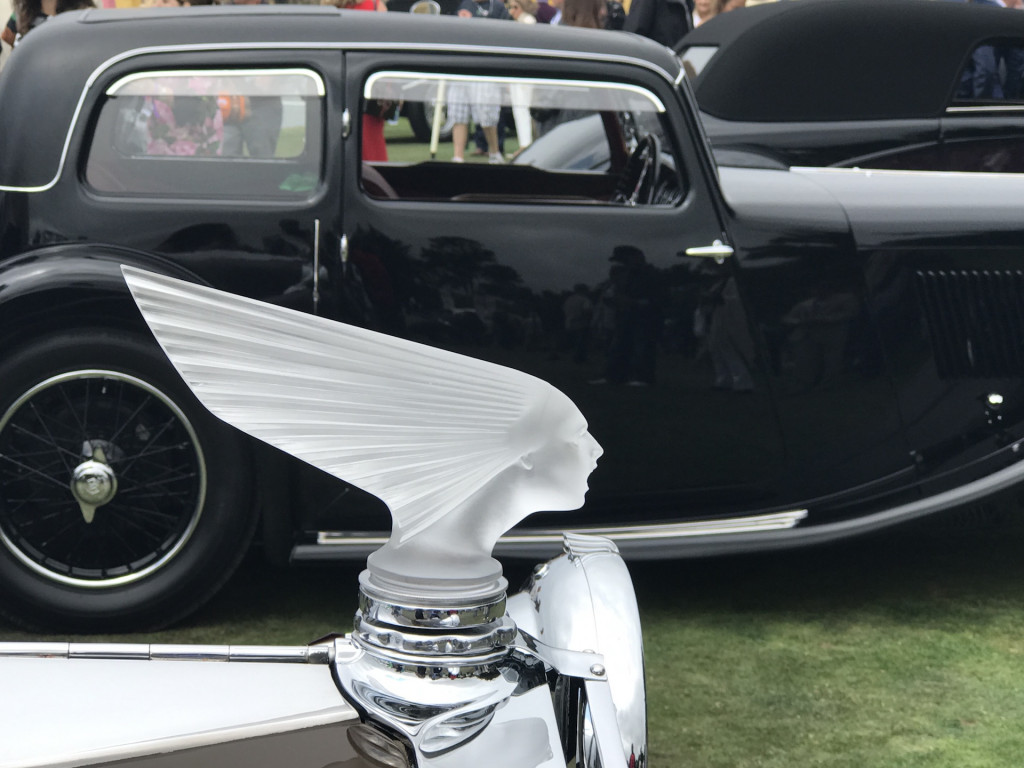 Hood ornaments at the 2017 Pebble Beach Concours d'Elegance