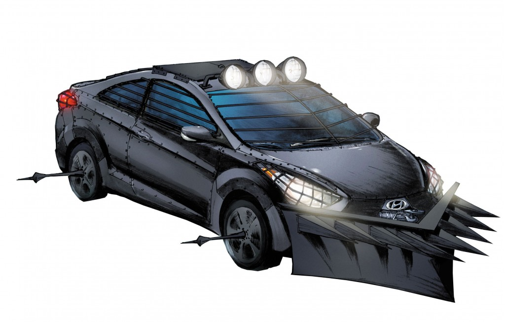 Hyundai Elantra GT zombie-themed for The Walking Dead 100th issue