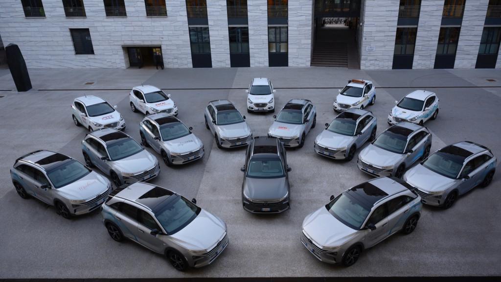 Hyundai fuel-cell police car fleet of Bolzano, Italy