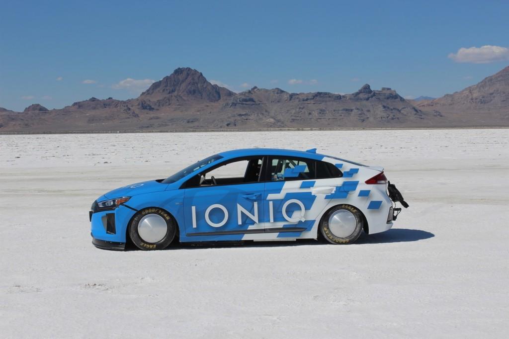 Hyundai Ioniq Land Speed Record car