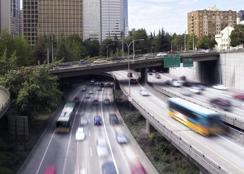 I-5 traffic in Seattle