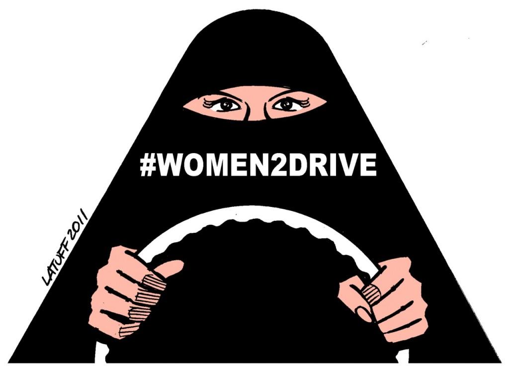 Illustration for the #Women2Drive campaign in Saudi Arabia