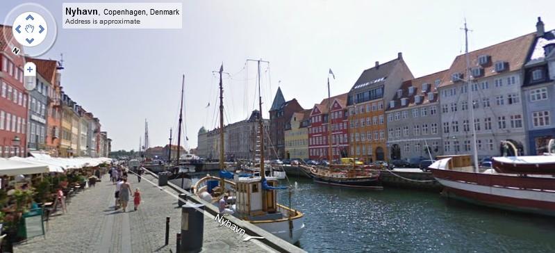 Image of Copenhagen from Google Street View