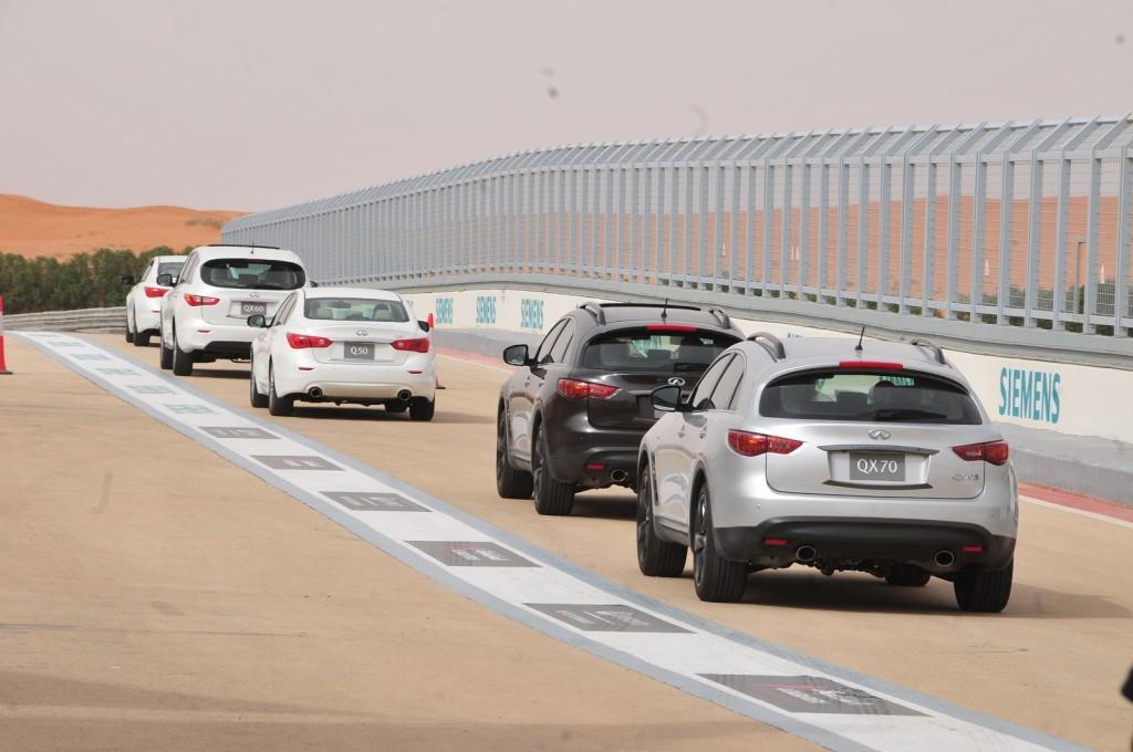 Infiniti at Al Reem circuit, Saudi Arabia