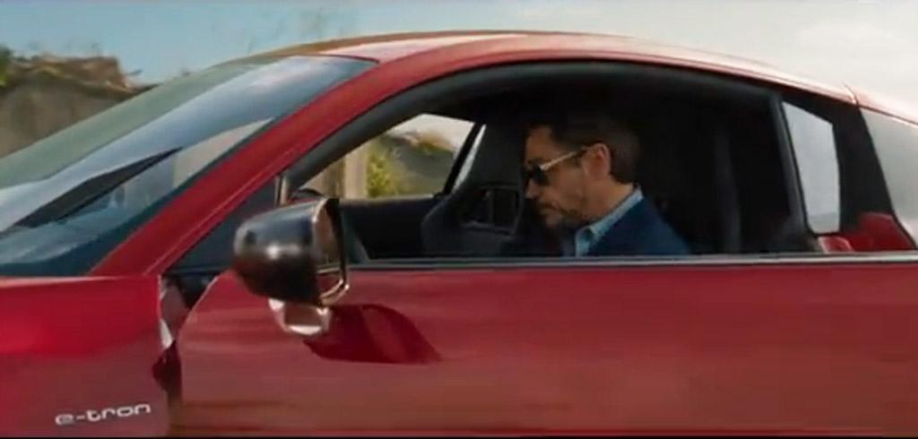 Iron Man Tony Stark Drives Audi R8 e-tron In New Ad: Video