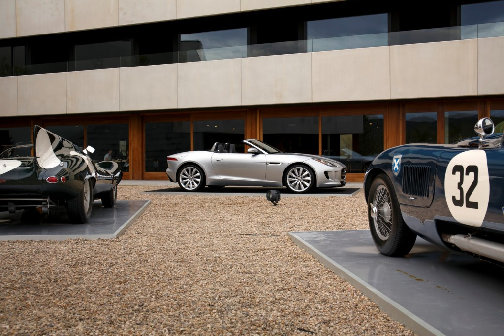 Jaguar F-Type with heritage cars