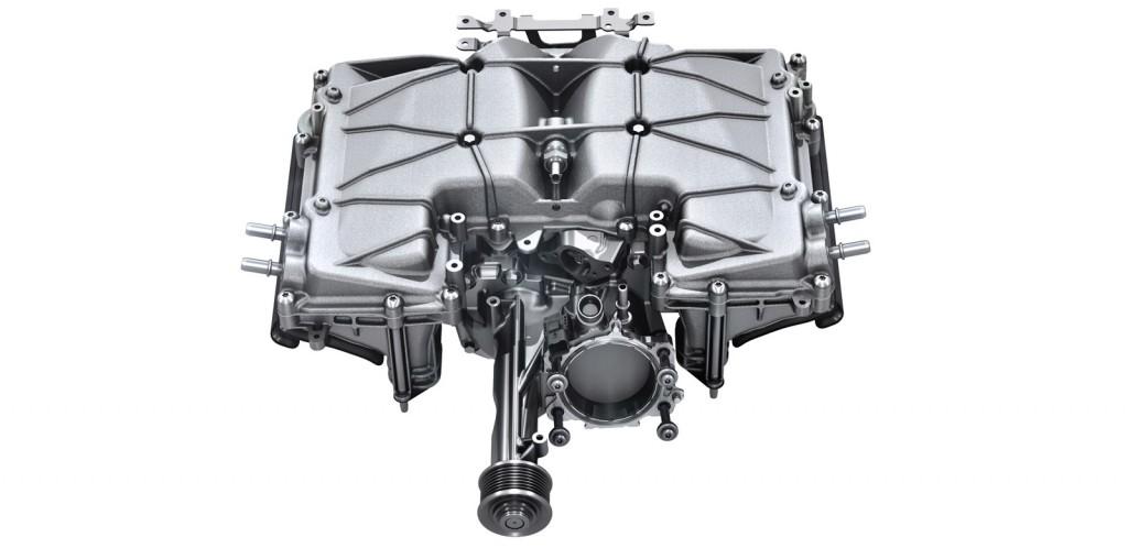 Supercharger from Jaguar 3.0-liter V-6 engine