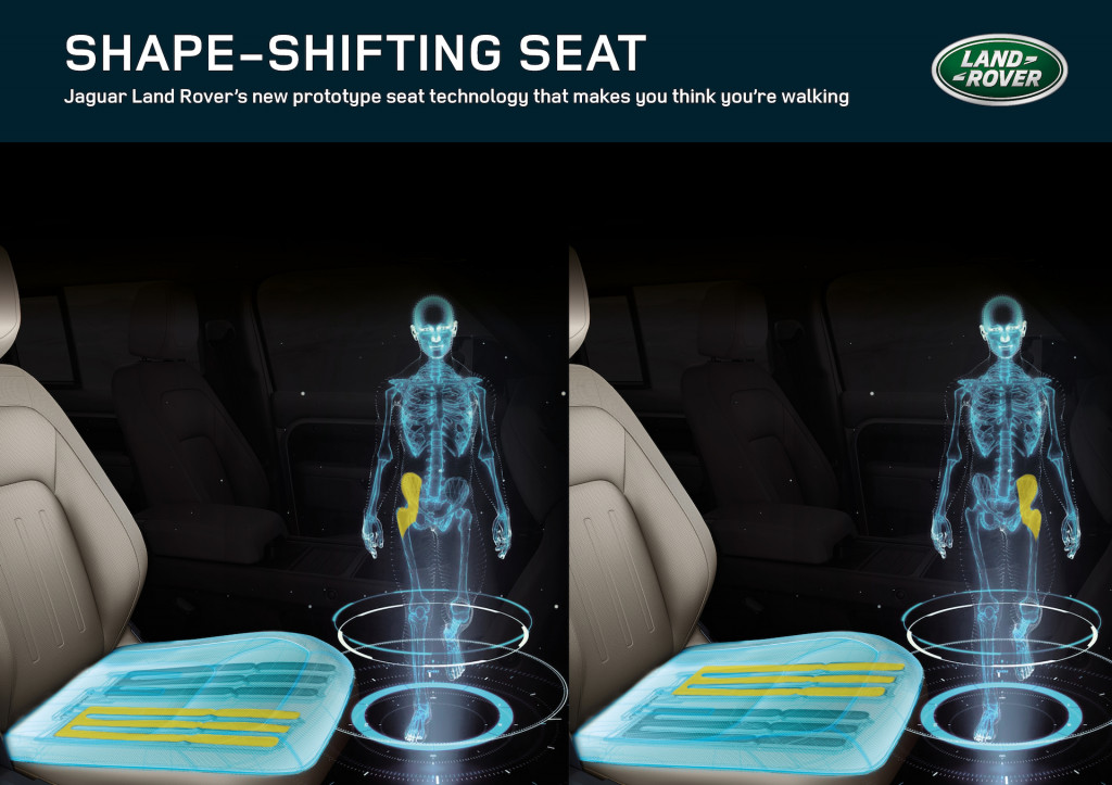 Jaguar Land Rover created a shape-shifting seat to make you think you're walking