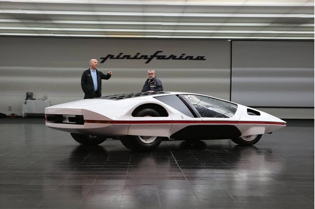 James Glickenhaus (left) and the Ferrari Modulo concept