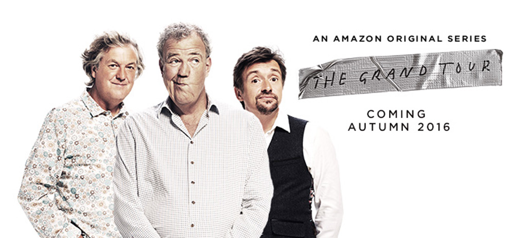 "James May, Jeremy Clarkson and Richard Hammond starring in ""The Grand Tour"""