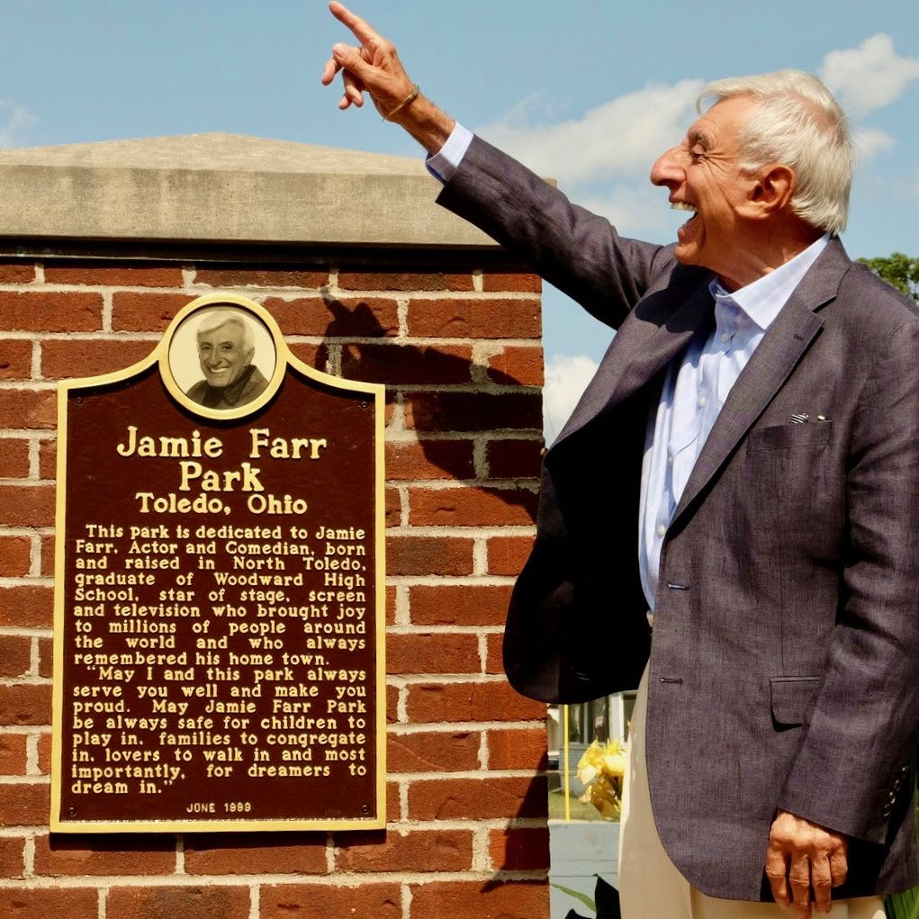 Jamie Farr Park dedication; courtesy Jamie Farr
