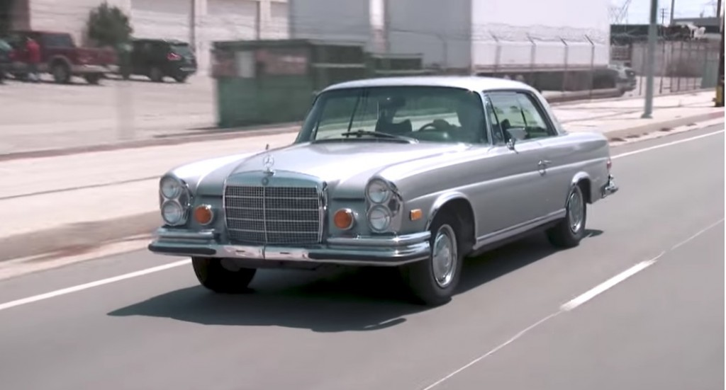 Jay Leno Takes A Classic Mercedes Benz Coupe Out For A Spin
