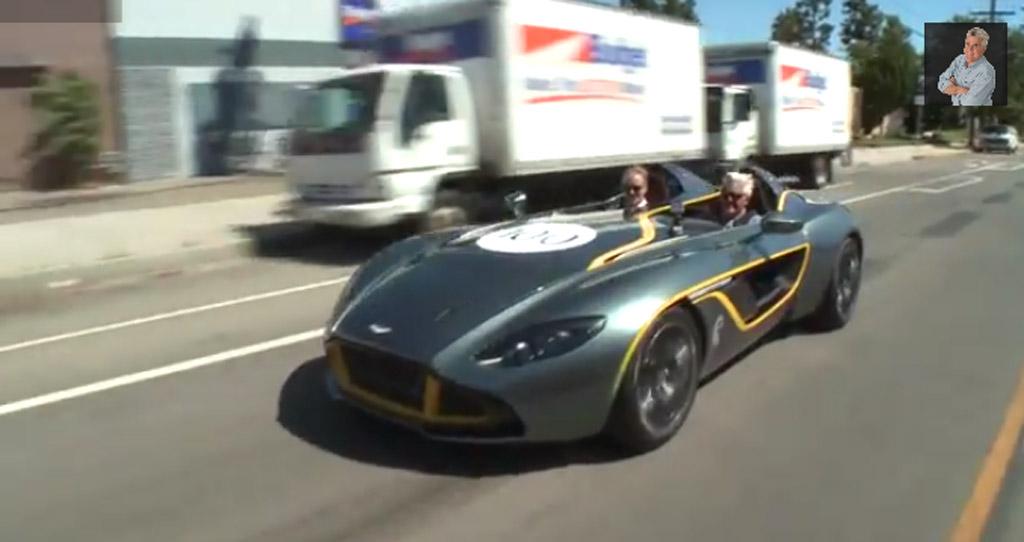 Jay Leno drives the Aston Martin CC100 concept