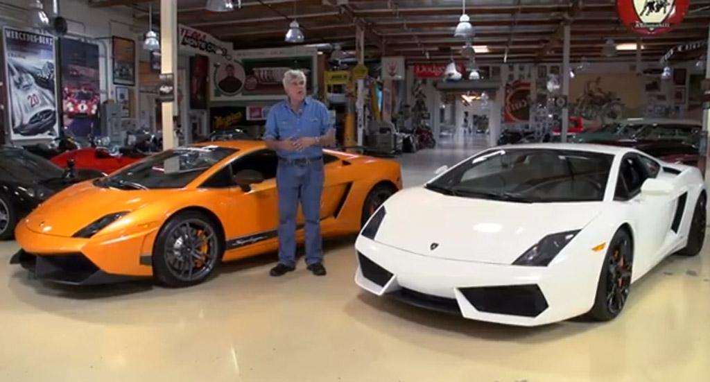 Jay Leno tests the 2012 Lamborghini Gallardo LP 570-4 and the LP 550-2