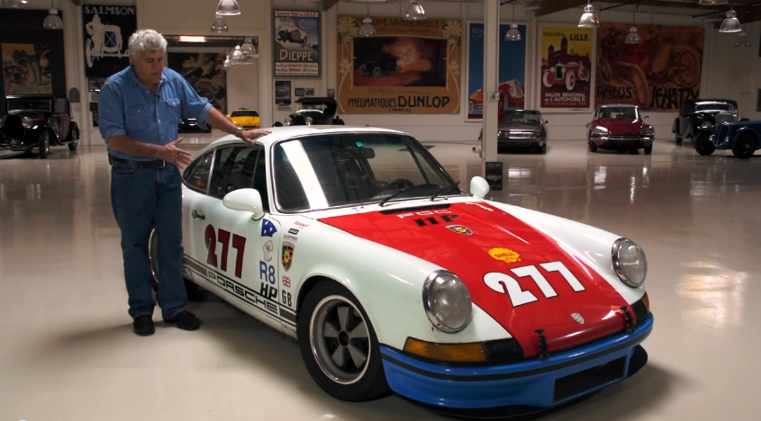 Jay Leno with Magnus Walker's 1971 Porsche 911T