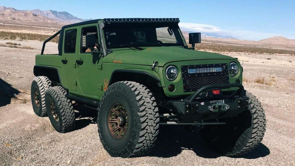 Bruiser Conversions made a V-8-powered Jeep Wrangler 6x6