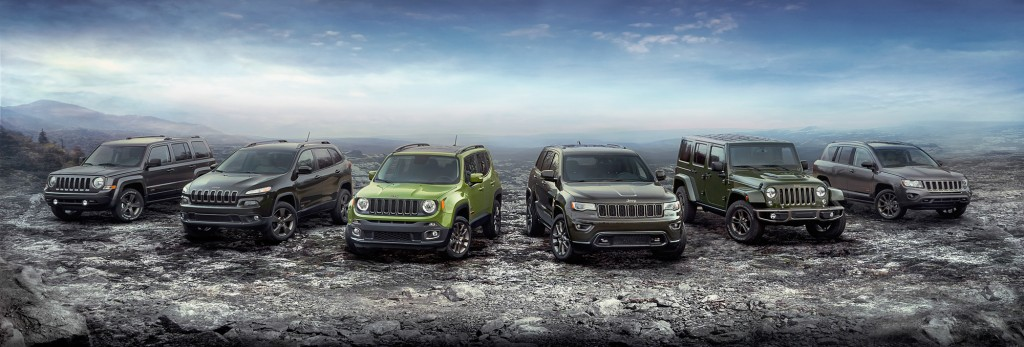 2016 Jeep 75th Anniversary edition complete model lineup