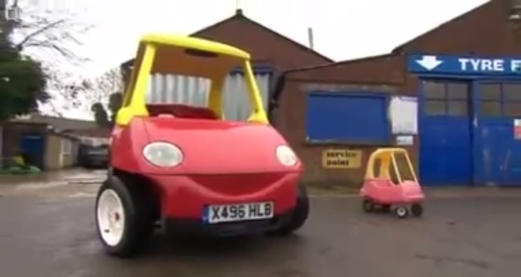 little tikes toy car turned into real car were not sure