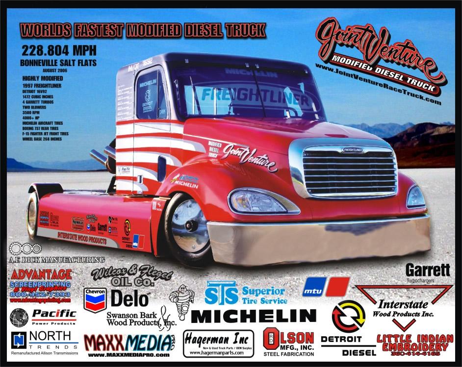 Joint Venture 4,500-horsepower Bonneville Freightliner