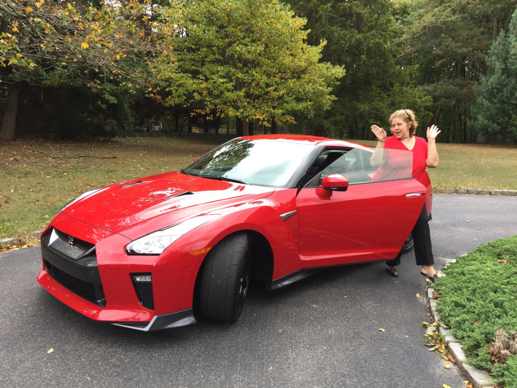 Theonie Kalogiannis with Nissan GT-R