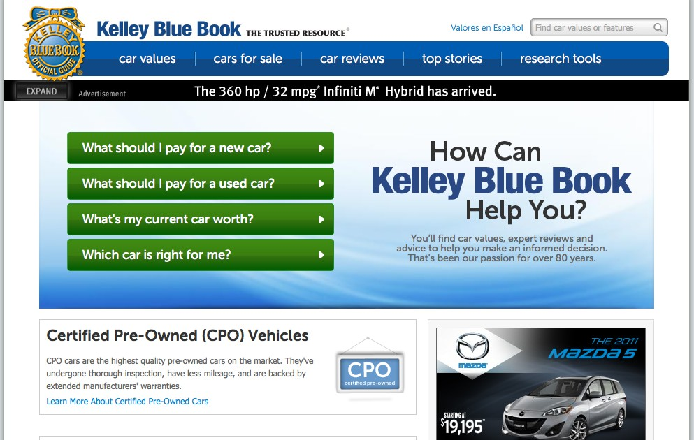 KBB.com: Kelley Blue Book Revises, Relaunches Its Web Home