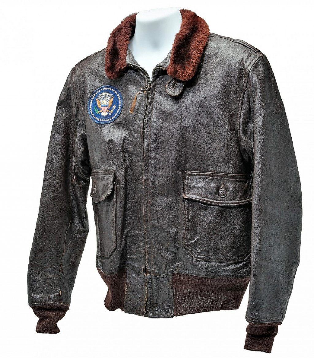 Kennedy gave the leather flight jacket to close friend David Power