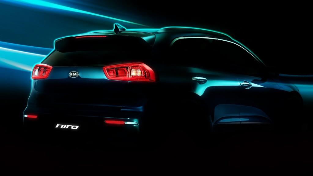 Kia Niro 'hybrid utility vehicle' teaser shot