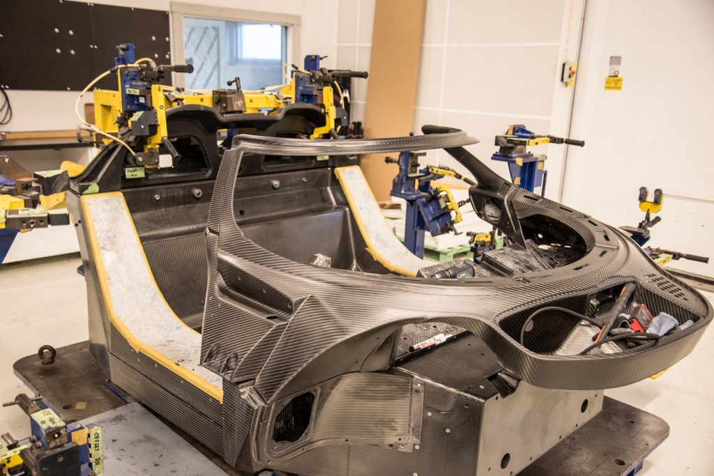 Koenigsegg Agera RS chassis #128 under construction - the first U.S.-spec Koenigsegg