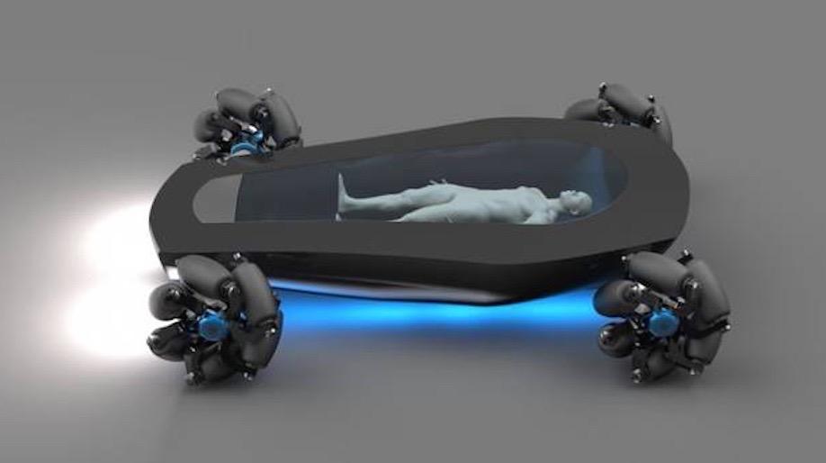 Korbiyor autonomous electric hearse