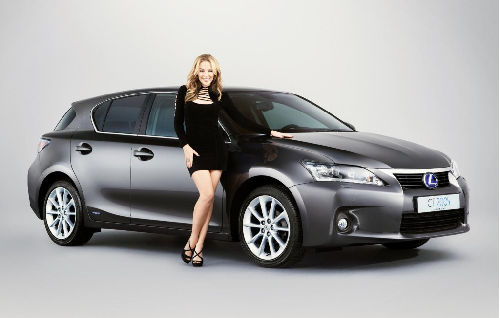 Kylie Minogue and the Lexus CT 200h
