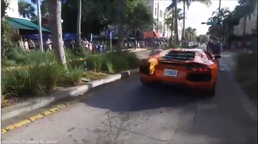 Valet Takes Lamborghini Aventador For Joyride And Of Course It