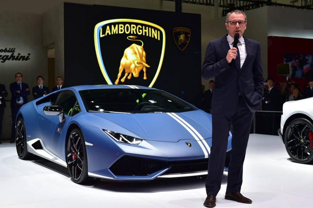 Lamborghini CEO Stefano Domenicali, 2016 Beijing Auto Show