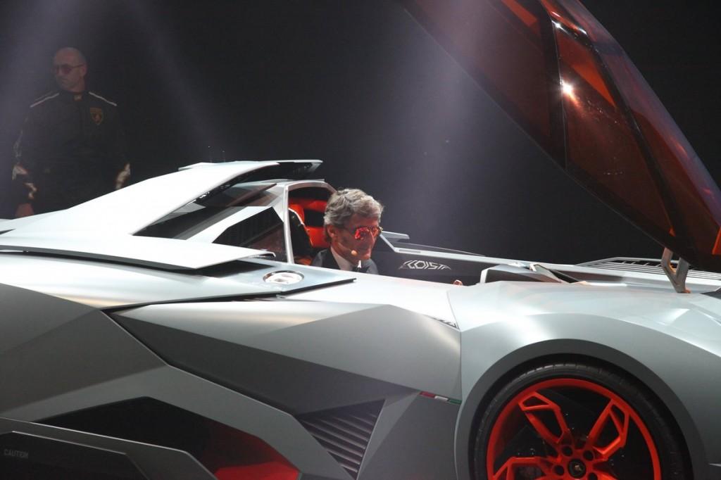 Lamborghini Egoista Reveal With Stephan Winkelmann Walter De Silva And Vw Design Team