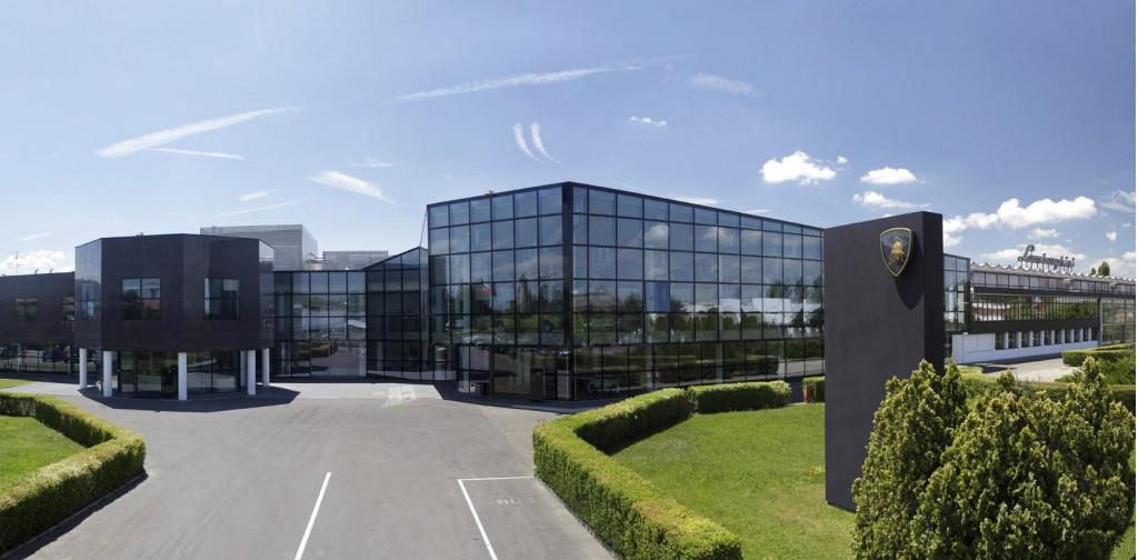 Lamborghini factory in Sant'Agata Bolognese