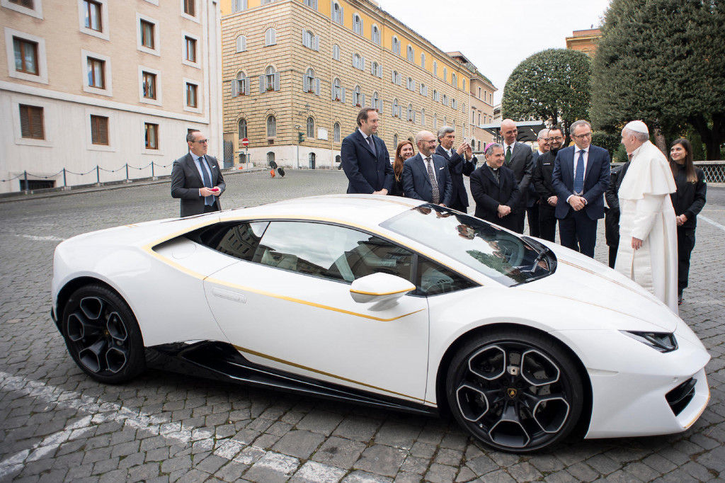 Holy roller: Pope's Lamborghini Huracán sells for $861,000