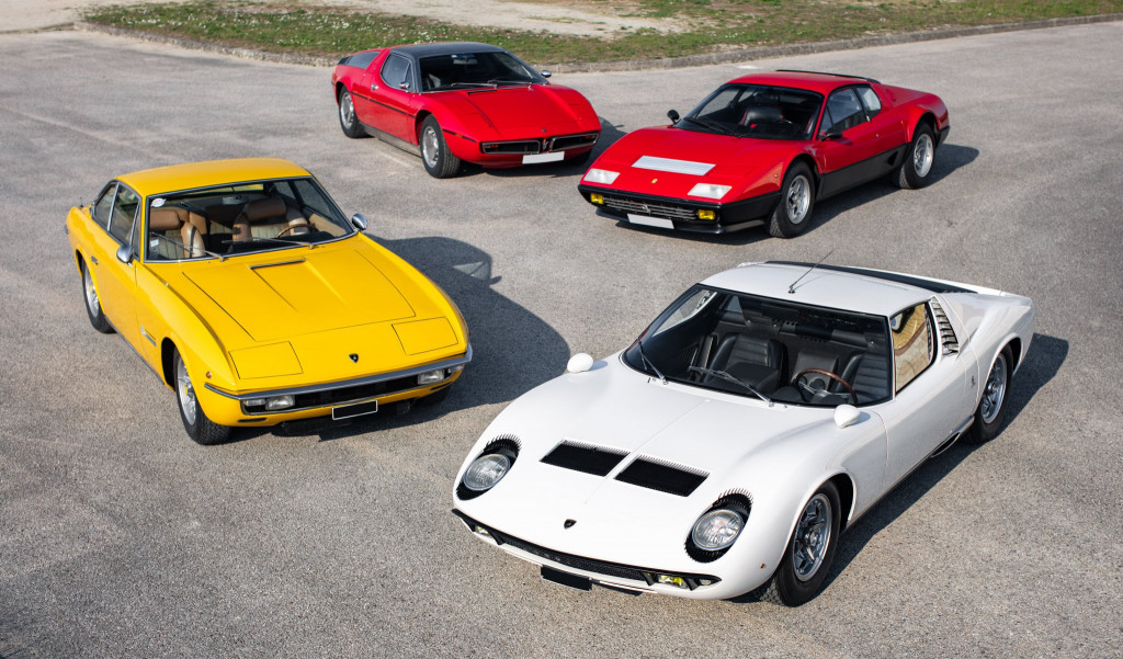 Lamborghini Miura (white) is coming out of a collection