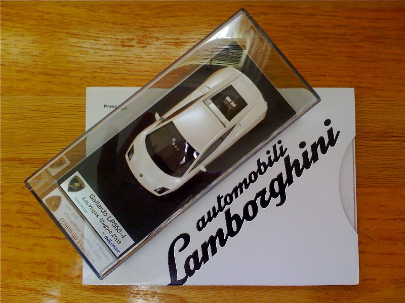 Lamborghini press kit schwag