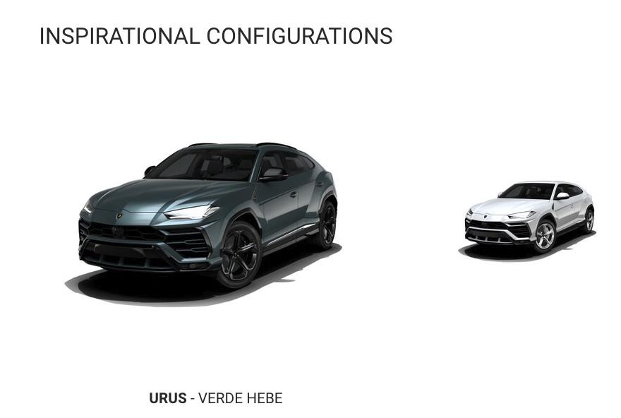 Lamborghini Urus configurator is up and running
