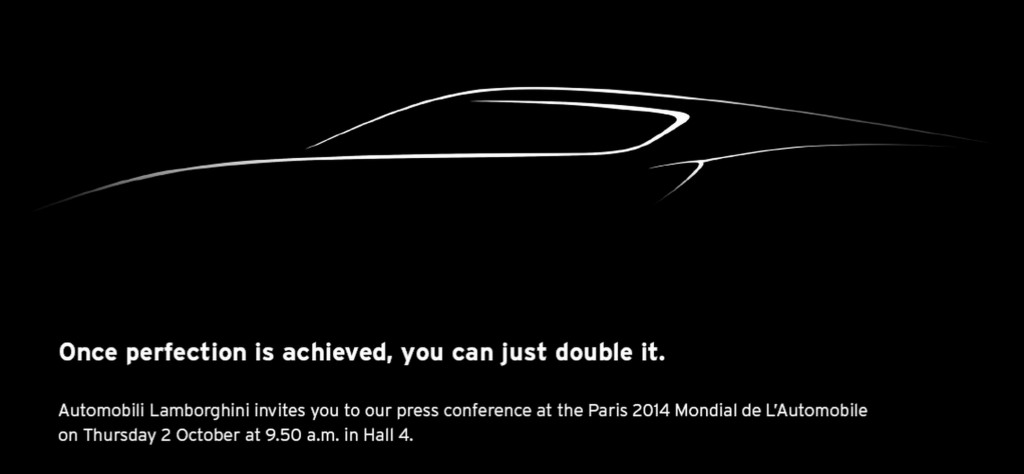 Lamborghini's 2014 Paris Motor Show press conference teaser--is a four-doored model coming?