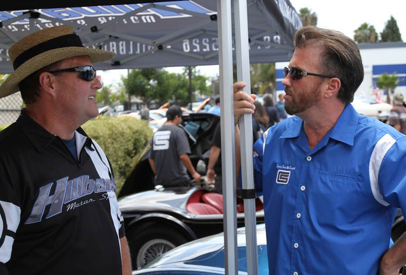 Lance Stander (left) and Rich MacDonald at a Shelby event | Tom Stahler photo