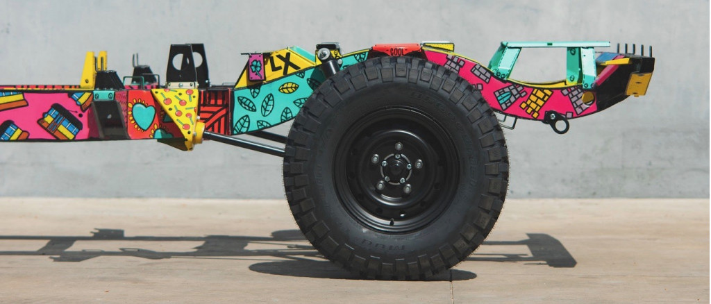1983 Land Rover Defender 110 art car by CoolNVintage and Lisbon artist Vasco Costa