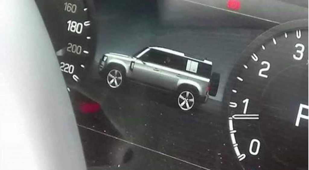 New Land Rover Defender revealed in vehicle's own instrument cluster
