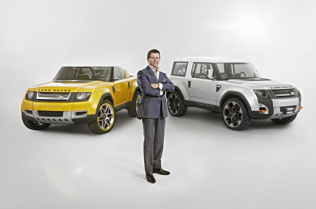 Land Rover design director Gerry McGovern with DC100 Concepts