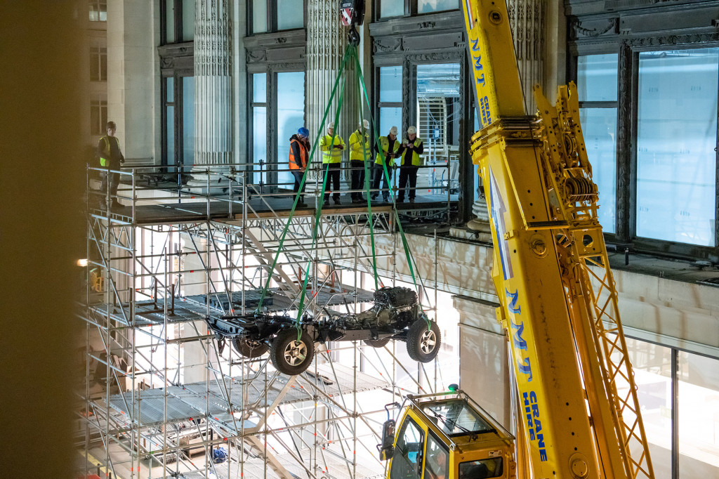 Land Rover is building a special Defender inside a London store